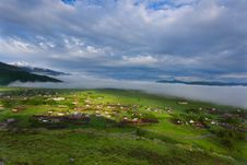 Free Village In Mountains Royalty Free Stock Image - 9873626