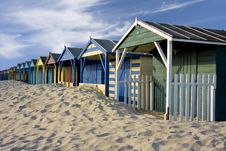 Free Beach Cabins Royalty Free Stock Photo - 9873725