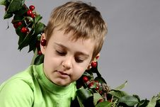 Free Boy And Cherry Royalty Free Stock Images - 9873959