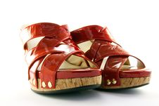 Free Red Shoes Royalty Free Stock Photography - 9874887