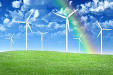 Free Wind Turbines Stock Image - 9875371