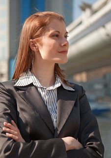 Free Thinking Busines Woman Outside Stock Image - 9875531