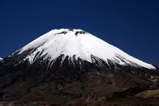 Free Snowcapped Volcano Parinacota Stock Images - 9875834