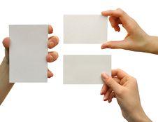 Free Card Blank Royalty Free Stock Photos - 9875888