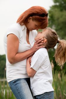 Child And Mothers Moment Stock Image