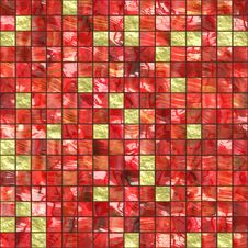 Red Golden Tiles Stock Photography