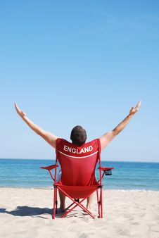 Free Man On Deckchair Royalty Free Stock Images - 9876569
