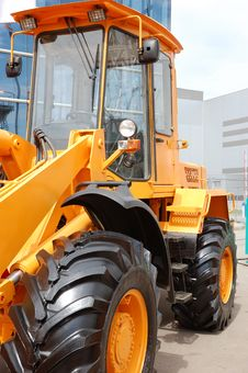 Free Yellow Bulldozer Stock Photography - 9876882