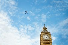 Free Big Ben And Aircraft Royalty Free Stock Images - 9876929
