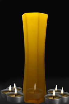 Free Vase With Candles Stock Photo - 9876960