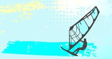 Free Windsurfing - Vector  Illustration Royalty Free Stock Photos - 9877178