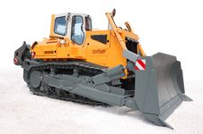 Free Yellow Bulldozer Stock Image - 9877211