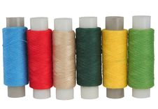 Set Of Colour Threads For Sewing Royalty Free Stock Photos