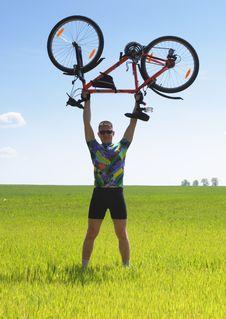 Free Bike Tourist Stock Image - 9878261