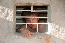 Portrait Of A Prisoner Royalty Free Stock Photography