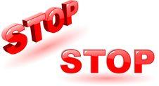 Free Stop Symbols Royalty Free Stock Image - 9879326