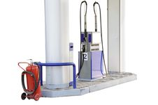 Free Petrol Pump Royalty Free Stock Image - 9879626