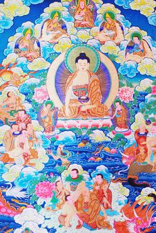 Free Buddha Of Thangka Royalty Free Stock Photography - 9879727