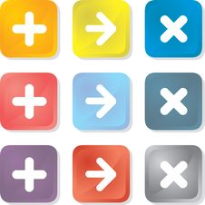 Free Vector Buttons Stock Photos - 9879743