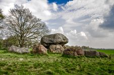 Free Dolmen With Old Tree Stock Image - 98749311