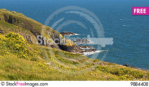 Free cliffs over blue sea ireland royalty free stock photos 9884408