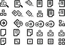 Free Vector Icon Set Royalty Free Stock Photo - 9880045
