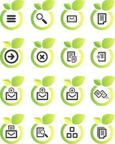Free Vector Icon Set Stock Image - 9880051