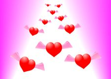 Free Hovering Hearts Royalty Free Stock Image - 9880586