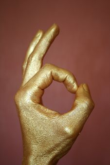 Free Gold Hand Stock Photography - 9882152