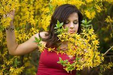Free Woman In Garden Stock Photos - 9882683
