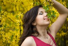Free Woman In Garden Royalty Free Stock Image - 9882716