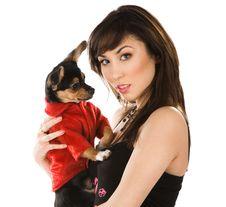 Free Beautiful Woman With Dog Royalty Free Stock Photo - 9882765