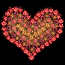 Free Firework Heart Royalty Free Stock Photos - 9883668