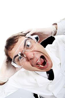 Free Shouting Doctor Stock Images - 9883934