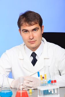 Free Work In A Laboratory Stock Image - 9884041