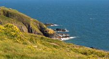 Free Cliffs Over Blue Sea, Ireland Royalty Free Stock Photos - 9884408
