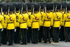 Free Thai Soldiers In Parade Uniforms Royalty Free Stock Image - 9884756