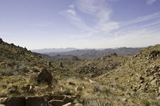 Free Arizona Desert Mountain View Stock Photography - 9885552