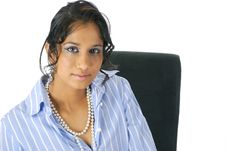 Free Portait Of One Young Brown Woman Stock Photo - 9885990