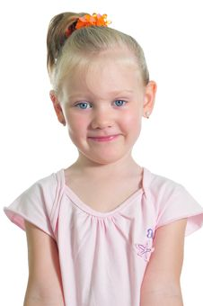 Free Portrait Of The Little Smiling Girl Stock Photo - 9887400