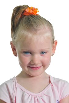 Free Portrait Of The Little Smiling Girl Stock Photos - 9887413