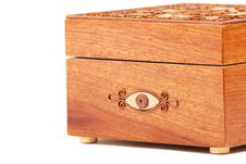 Free Red Wooden Casket Royalty Free Stock Image - 9887686