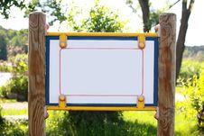 Free Blank Park Board Stock Photo - 9888390