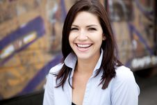 Free Beautiful Brunette In A Collared Shirt Royalty Free Stock Photo - 9888475