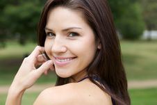 Free Beautiful Brunette In A Collared Shirt Royalty Free Stock Photos - 9889368