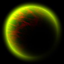 Green Red Planet Royalty Free Stock Photo