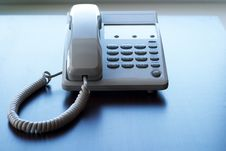 White Phone On The Table Royalty Free Stock Photography