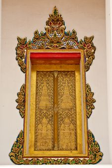 Free Thai Stye Church Window Royalty Free Stock Photo - 9889615