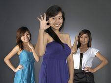 Free Three Girlfriends Royalty Free Stock Image - 9889656