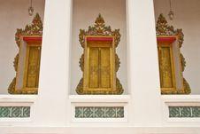 Free Thai Stye Church Window Stock Photo - 9889670